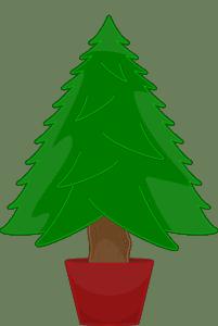 kleiner Weihnachtsbaum im Topf von Baumeria